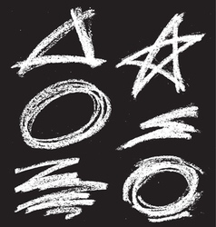 chalkshapes1 vector image vector image