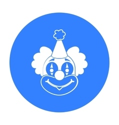Clown icon in black style isolated on white vector