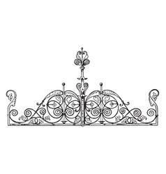 Coronal finial is modern gate found in berlin vector