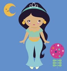Cute east princess vector image vector image