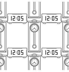 electronic watch and grandfather clock flat vector image