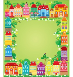 home frame summer 380 vector image