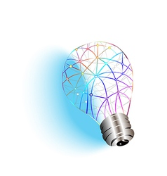 idea with light vector image vector image