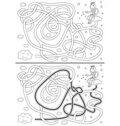Little angel maze vector image