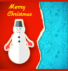 merry christmas colorful template vector image