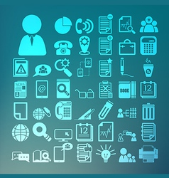 Office icons set Retina vector image
