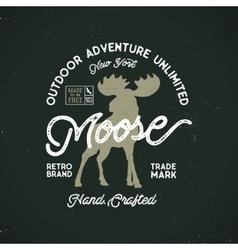Outdoor adventure label vintage typography vector