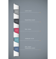 Paper numbered banners vector