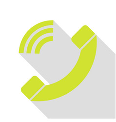 Phone sign pear icon with flat style vector