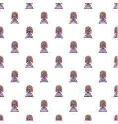 railway tunnel pattern seamless vector image