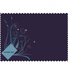 retro floral stamp background vector image