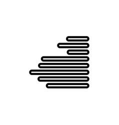 Right alignment icon vector