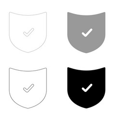 Shield the black and grey color set icon vector