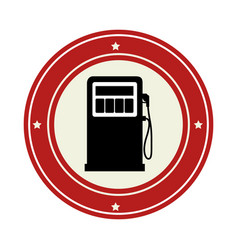 Station service fuel isolated icon vector
