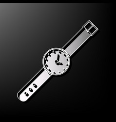 Watch sign gray 3d printed vector