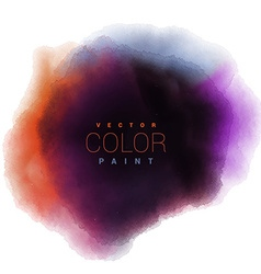 watercolor ink paint stain drop design vector image vector image