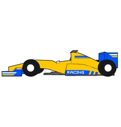 yellow formula car vector image vector image