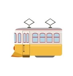Tram public transportation portuguese famous vector