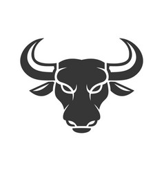 Bull face logo business icon on a white vector