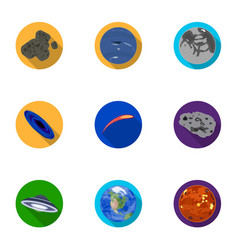 planets of the solar system cosmic objects vector image