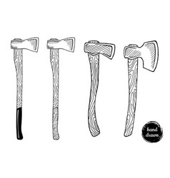 Hand drawn sketch style ax vector