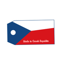 Czech republic flag on price tag with word made vector
