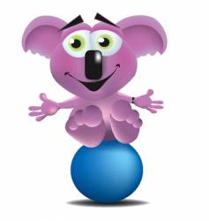 koala bear on a ball vector image