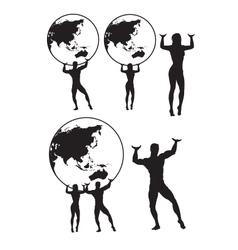 Atlas silhouette vector