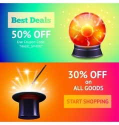 Magic banners set vector
