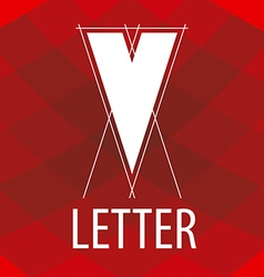 logo the letter V in the form of a drawing vector image