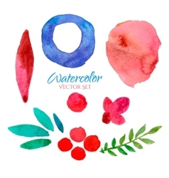 watercolor banners set vector image