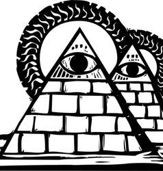Masonic pyramids vector