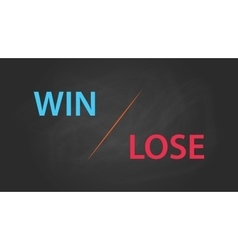 Win or lose solution concept written on the text vector
