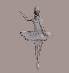 Abstract ballet dancer vector