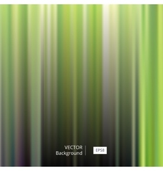 Abstract green striped and blurred background vector