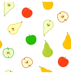 apple and pear seamless vector image vector image