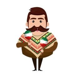 avatar mexican man cartoon vector image