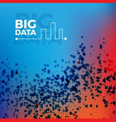 big data background vector image vector image