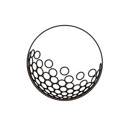 Black silhouette with golf ball vector