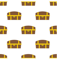 chest pattern seamless flat style vector image