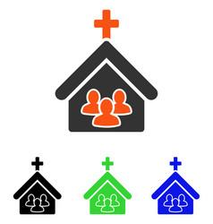 Church people flat icon vector