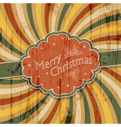colorful rays xmas card vector image