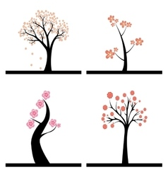 Cute Abstract trees vector image vector image