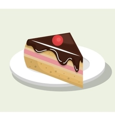 delicious and sweet cake isolated icon design vector image vector image