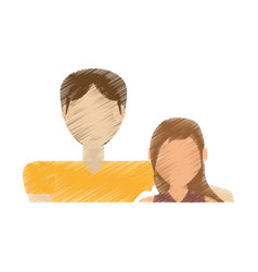 Drawing couple relationship love vector