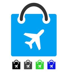 Duty free shopping flat icon vector