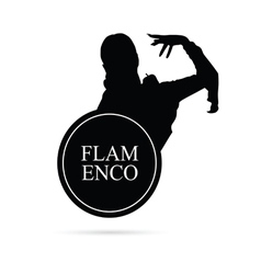 Flamenco girl silhouette vector