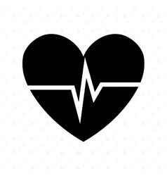 Heart beat design vector