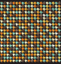 houndstooth retro pattern seamless vector image