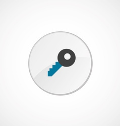 key icon 2 colored vector image